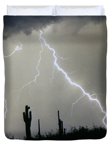 Arizona Desert Storm Duvet Cover by James BO  Insogna