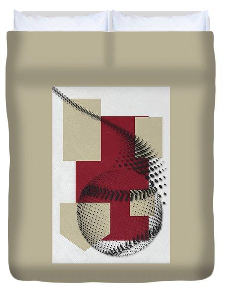 Arizona Diamondbacks Art Duvet Cover by Joe Hamilton