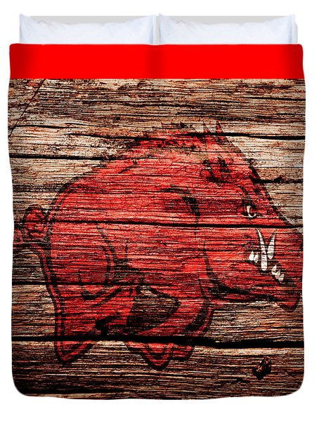 Arkansas Razorbacks 1a Duvet Cover by Brian Reaves