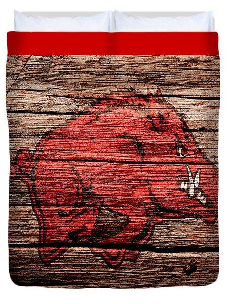 Arkansas Razorbacks Duvet Cover by Brian Reaves