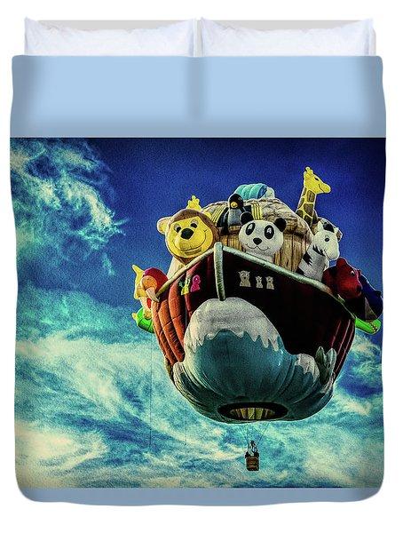 Arky  Noah's Ark Duvet Cover by Bob Orsillo