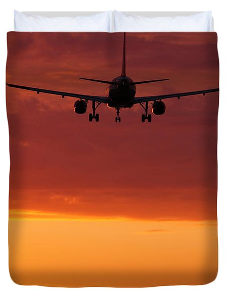 Arriving At Day's End Duvet Cover by Andrew Soundarajan