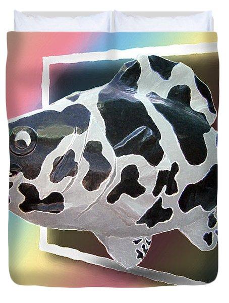 Art Fish Fun Duvet Cover by Brian Wallace