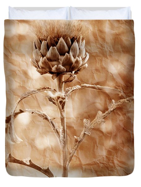 Artichoke Bloom Duvet Cover by La Rae  Roberts
