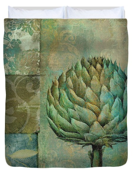 Artichoke Margaux Duvet Cover by Mindy Sommers