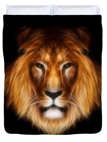 Artistic Lion Duvet Cover by Aimelle