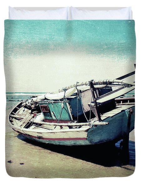 Waiting For The Tide Duvet Cover by Nicklas Gustafsson
