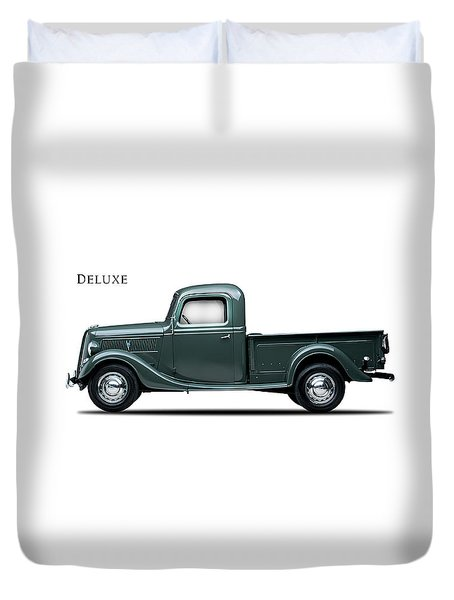 Ford Deluxe Pickup 1937 Duvet Cover by Mark Rogan
