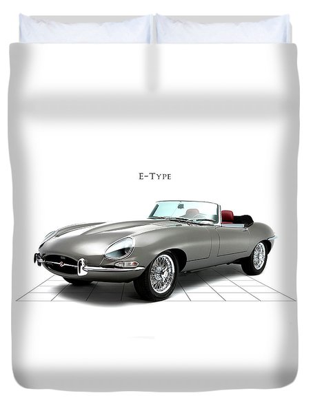 Jaguar E Type Duvet Cover by Mark Rogan