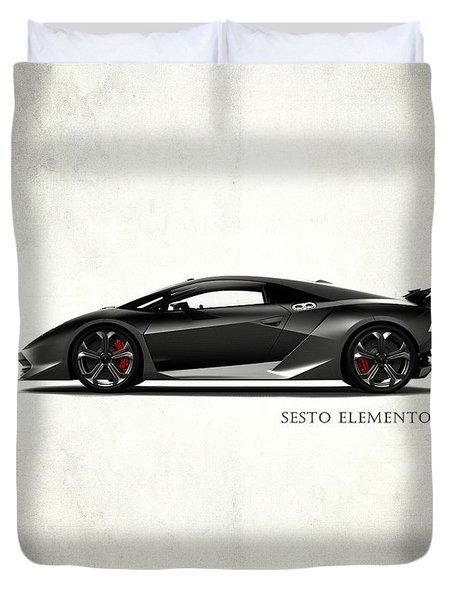 Lamborghini Sesto Elemento Duvet Cover by Mark Rogan