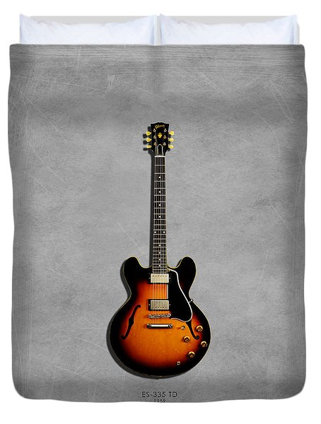 Gibson Es 335 1959 Duvet Cover by Mark Rogan