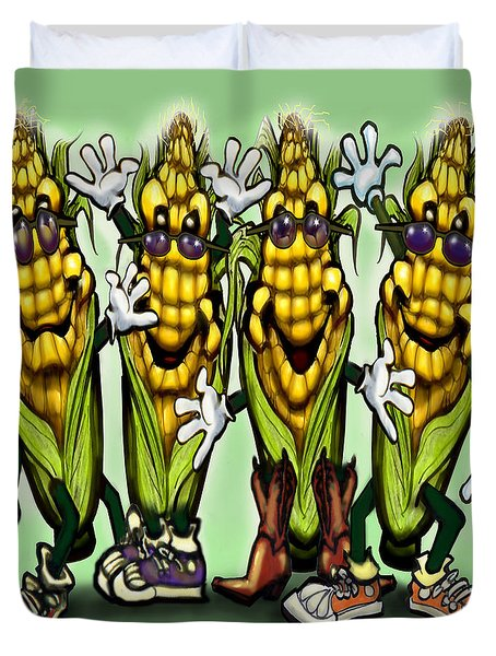 Corn Party Duvet Cover by Kevin Middleton