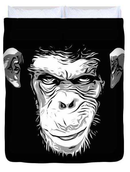 Evil Monkey Duvet Cover by Nicklas Gustafsson