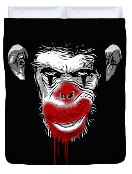 Evil Monkey Clown Duvet Cover by Nicklas Gustafsson