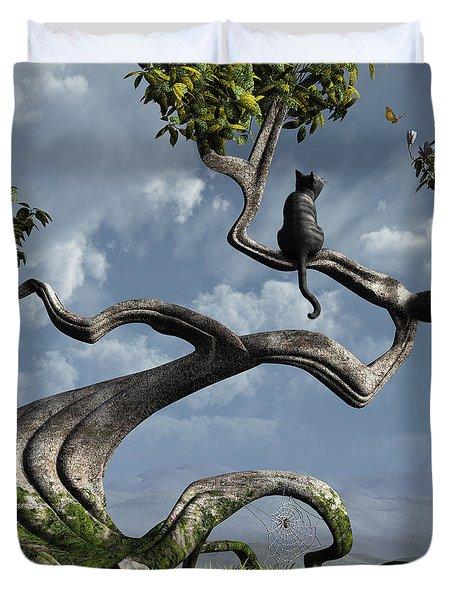 The Sitting Tree Duvet Cover by Cynthia Decker