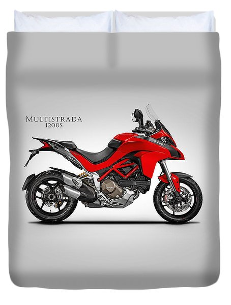 Ducati Multistrada Duvet Cover by Mark Rogan