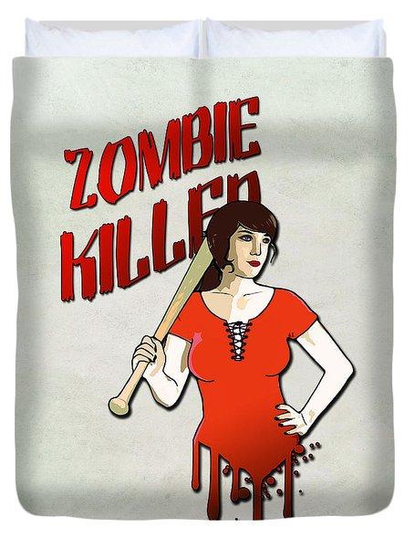 Zombie Killer Duvet Cover by Nicklas Gustafsson