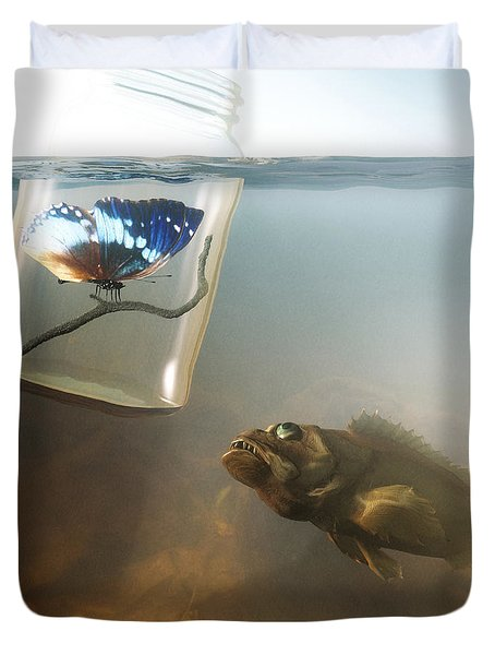 Beauty And The Beast Duvet Cover by Cynthia Decker
