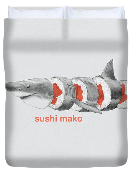 Sushi Mako Duvet Cover by Eric Fan