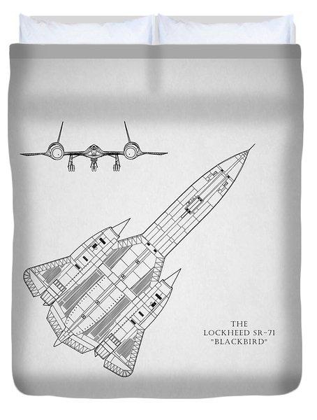 The Lockheed Sr-71 Blackbird Duvet Cover by Mark Rogan
