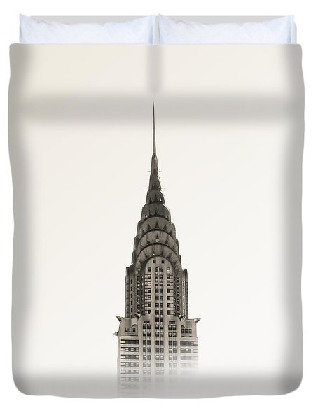 Chrysler Building - Nyc Duvet Cover by Nicklas Gustafsson