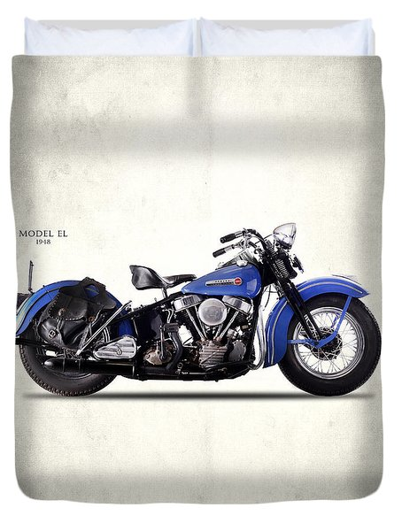 Harley-davidson El 1948 Duvet Cover by Mark Rogan