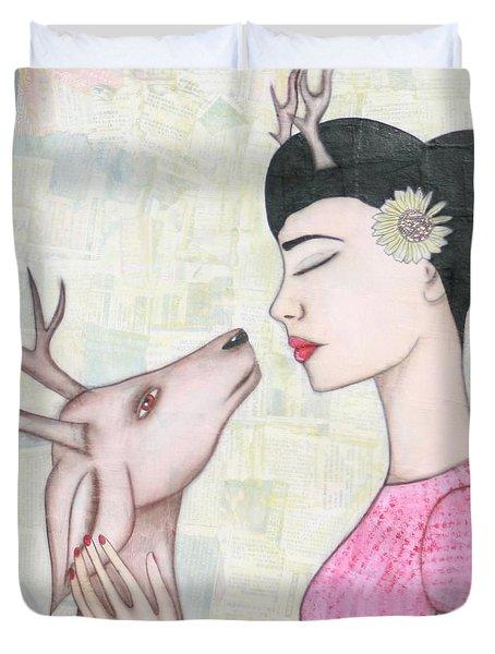 My Deer Duvet Cover by Natalie Briney