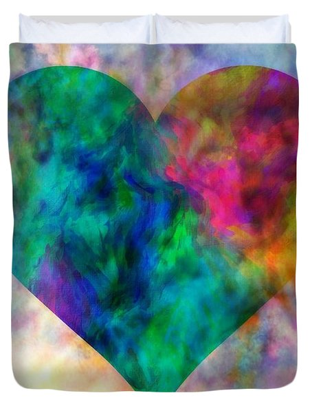 Ascendance Of Love Duvet Cover by WBK