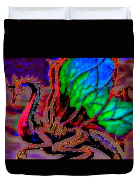 Year Of the Dragon Duvet Cover by WBK