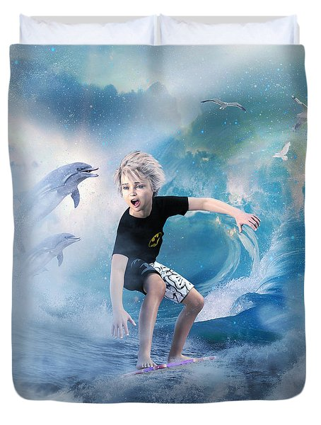Endless Wave Duvet Cover by Shanina Conway