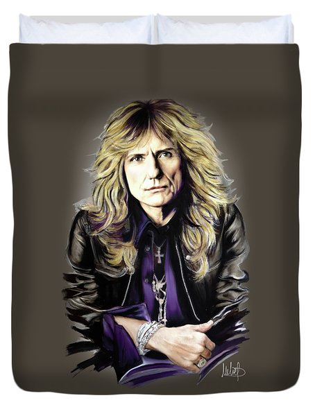 David Coverdale Duvet Cover by Melanie D