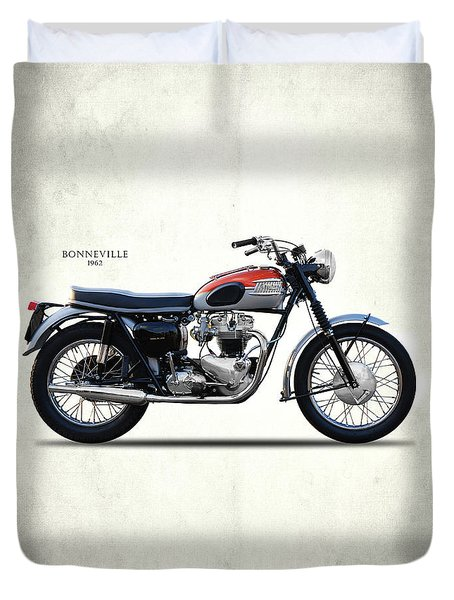 Bonneville T120 1962 Duvet Cover by Mark Rogan