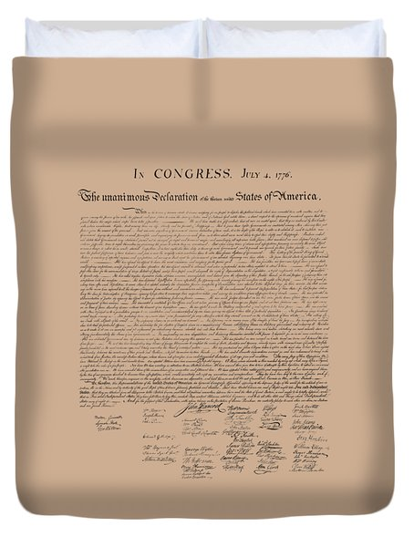 The Declaration Of Independence Duvet Cover by War Is Hell Store