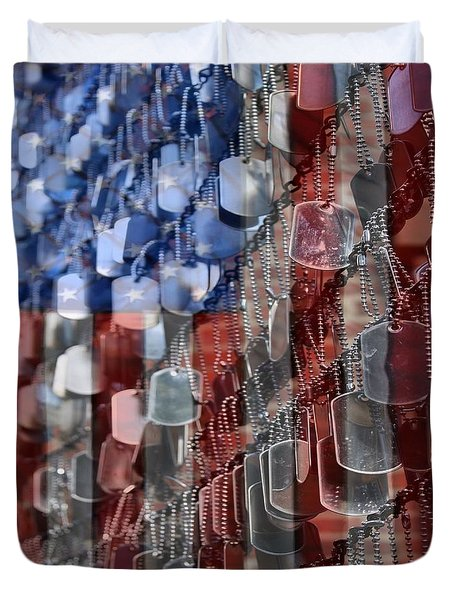 American Sacrifice Duvet Cover by DJ Florek