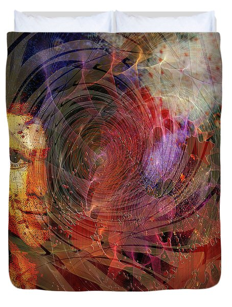 Crimson Requiem Duvet Cover by John Robert Beck