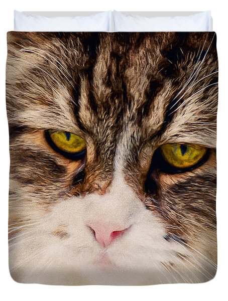 The Cat Duvet Cover by Angela Doelling AD DESIGN Photo and PhotoArt