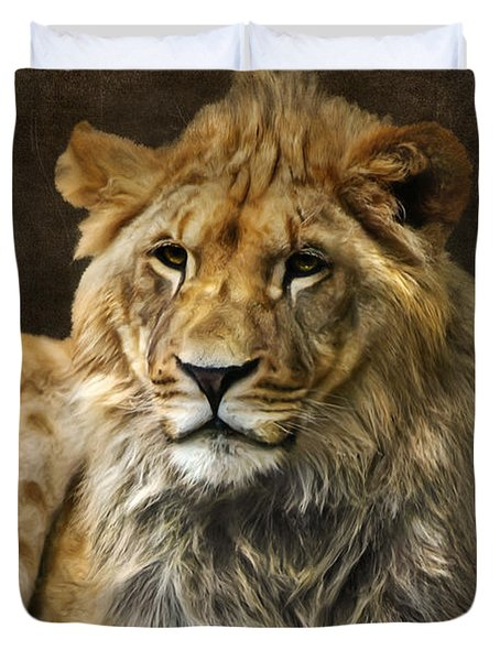 The young lion Duvet Cover by Angela Doelling AD DESIGN Photo and PhotoArt
