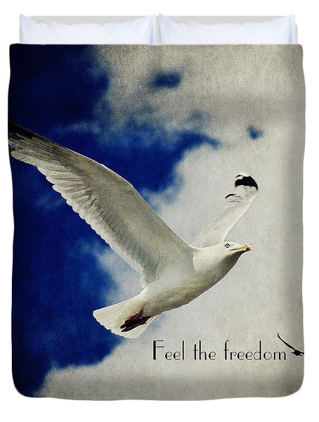 Feel The Freedom Duvet Cover by Angela Doelling AD DESIGN Photo and PhotoArt