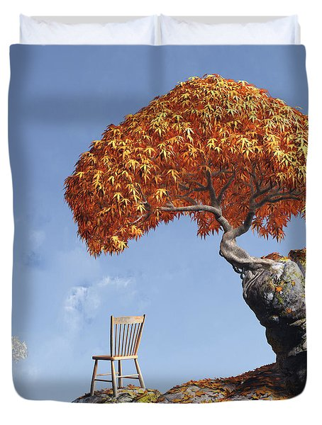 Leaf Peepers Duvet Cover by Cynthia Decker