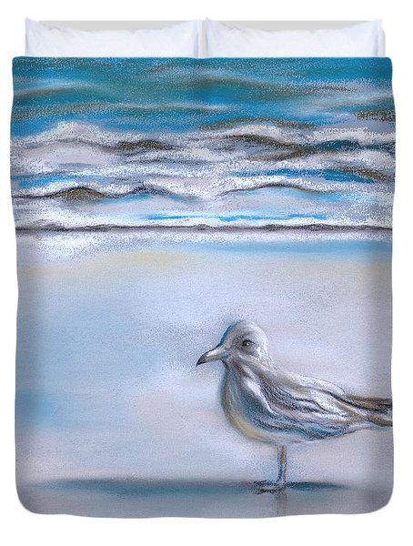 Gull On The Shore Duvet Cover by MM Anderson