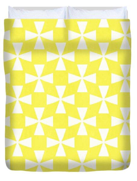 Citrus Twirl Duvet Cover by Linda Woods