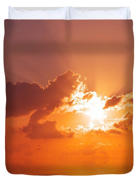 The Sunset Duvet Cover by Angela Doelling AD DESIGN Photo and PhotoArt