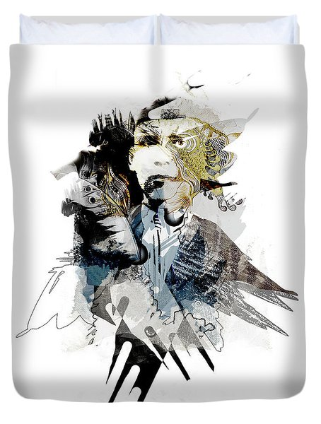 The Birdman Duvet Cover by Aniko Hencz