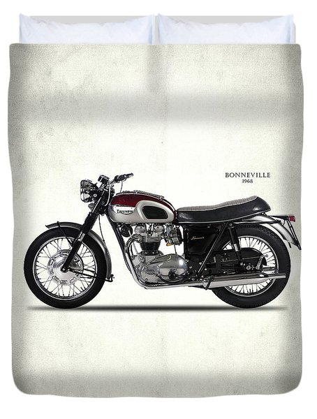 Triumph Bonneville 1968 Duvet Cover by Mark Rogan