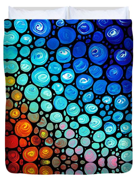 Abstract 2 Duvet Cover by Sharon Cummings