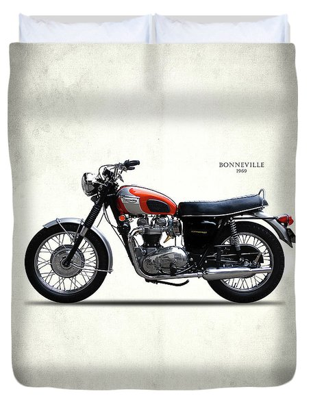 Triumph Bonneville 1969 Duvet Cover by Mark Rogan
