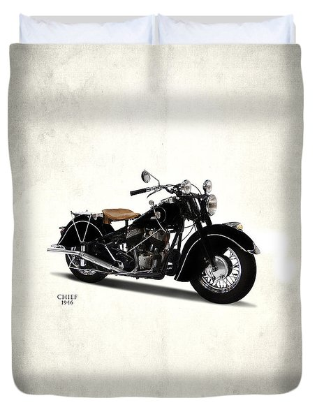 Indian Chief 1946 Duvet Cover by Mark Rogan