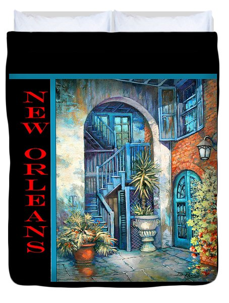 Brulatour Courtyard Duvet Cover by Dianne Parks
