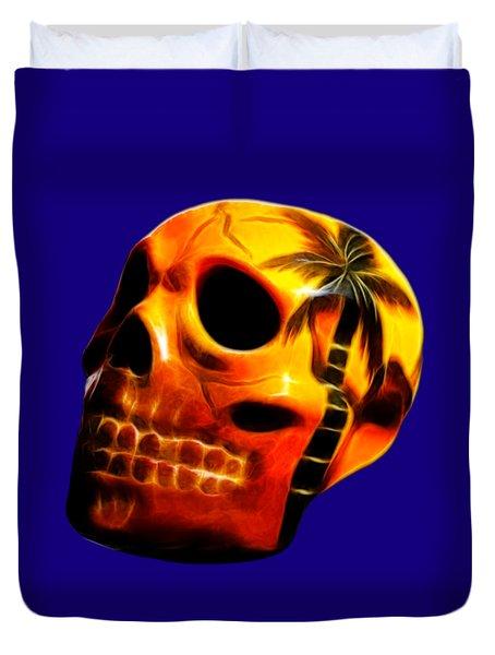 Glowing Skull Duvet Cover by Shane Bechler