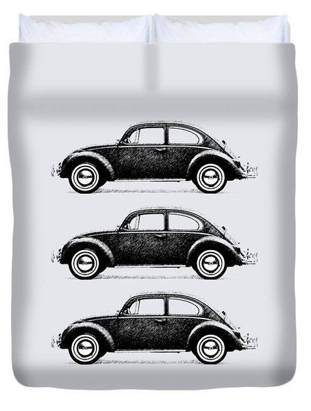 Think Small Duvet Cover by Mark Rogan